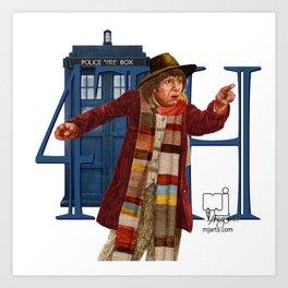 4th Doctor Art Print