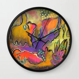 Playful Shapes & Colors Wall Clock