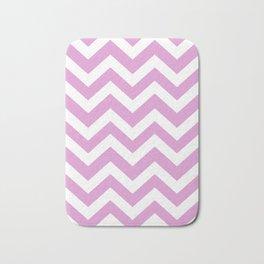 Orchid (Crayola) - violet color -  Zigzag Chevron Pattern Bath Mat