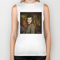 cyrilliart Biker Tanks featuring Dragon Series: Harry by Cyrilliart