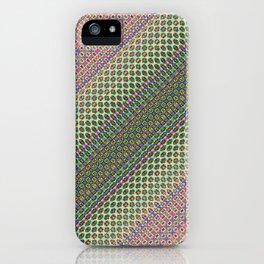 54466666 + Sin(Cos(Sin(i × j + n + k))) × 234466    [Pattern Green Rug] iPhone Case