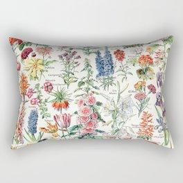 Adolphe Millot - Fleurs pour tous - French vintage poster Rectangular Pillow