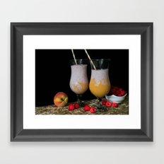 Fresh Smoothies Framed Art Print