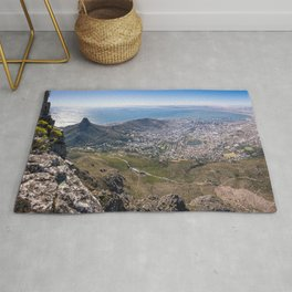 View of Cape Town from Table Mountain in South Africa Rug