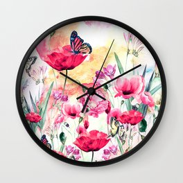 Popies Wall Clock
