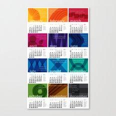 2013 Pigment to Pantone Calendar Canvas Print