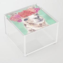Flower Crown Llama Acrylic Box