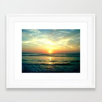 sunrise Framed Art Prints featuring Sunrise by THEORY