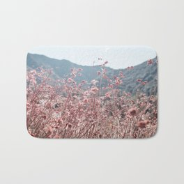 California Pink Flowers Bath Mat