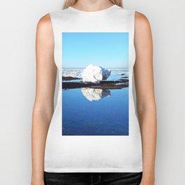 Baby Icebergs on the Tidal Shelf Biker Tank