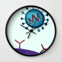 virus inspired illustration Wall Clock