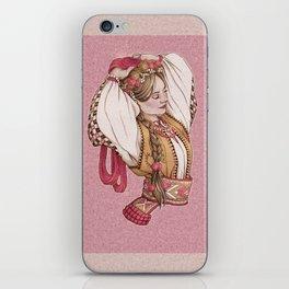 Slavic Beauty in Hucul clothing iPhone Skin