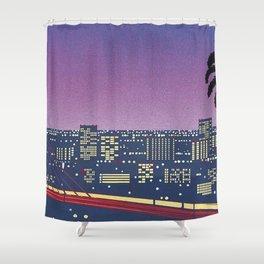 Hiroshi Nagai Vaporwave Shirt Shower Curtain