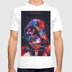 Darth Vader 'Father' Abstract Star.Wars digital Painting White Mens Fitted Tee MEDIUM