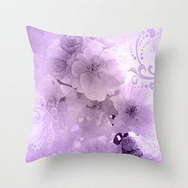 Beautiful flowers in soft violet colors Throw Pillow
