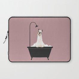 Llama in Bathtub Laptop Sleeve