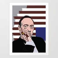 frank underwood Art Prints featuring Frank Underwood - House of Cards - Kevin Spacey  by GoodNightOwlDesigns