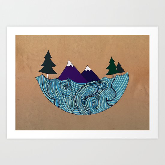 Pacific NorthFresh Art Print