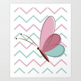 Cute Butterfly Art Print