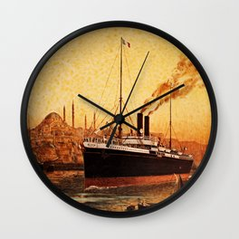 Vintage French Orient Shipping line Paris Mediterranean Wall Clock
