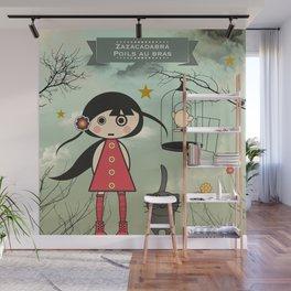 Poils aux bras Wall Mural