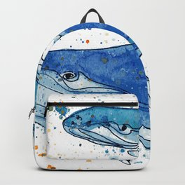 Whale Mommy and Baby Backpack