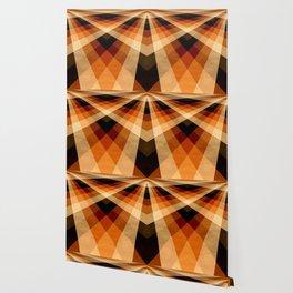 Autumn Groovy Checkerboard Wallpaper