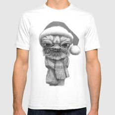 Christmas Ostrich G145 Mens Fitted Tee White MEDIUM