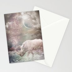 The Most Beautiful Have Known Defeat, Suffering, Struggle... (Rhino Dreams)  Stationery Cards