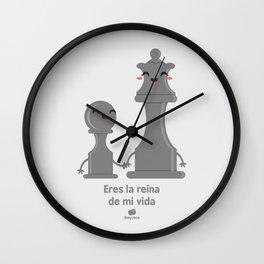 Eres la reina de mi vida Wall Clock