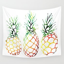 Retro Pineapples Wall Tapestry