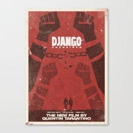 Django Unchained, Quentin Tarantino, minimalist movie poster, Leonardo DiCaprio, spaghetti western Canvas Print