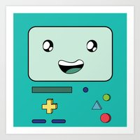 bmo Art Prints featuring BMO by Kezarah