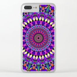 Bohemian Blossom Mandala Clear iPhone Case