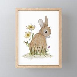 Rabbit Among the Flowers Framed Mini Art Print
