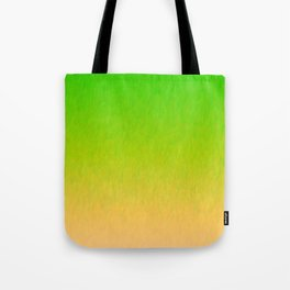 Green Orange Yellow Ombre Flame Tote Bag