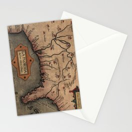 Vintage Spanish Map of Florida Discovery (1584) Stationery Cards
