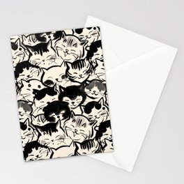 Happy Cats Faces Stationery Cards