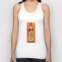 ale giorgini Tank Tops featuring BEER ART - Oberon Ale by Dorrie Rifkin Watercolors