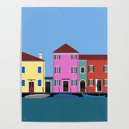 Isola di Burano, Italy Poster