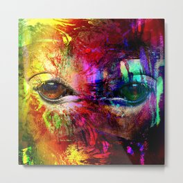 Eyes mystical humanoid looking Metal Print