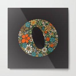 Hippie Floral Letter O Metal Print