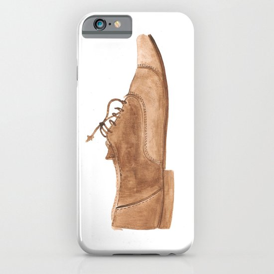 Leather Shoe Watercolour iPhone & iPod Case