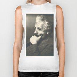Albert Einstein rare photo Biker Tank