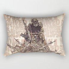 How I Survived The Zombie Apocalypse (colour option) Rectangular Pillow