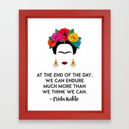 Frida's Strength Framed Art Print