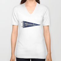 ravenclaw V-neck T-shirts featuring Ravenclaw 1948 Vintage Pennant by Andy Pitts