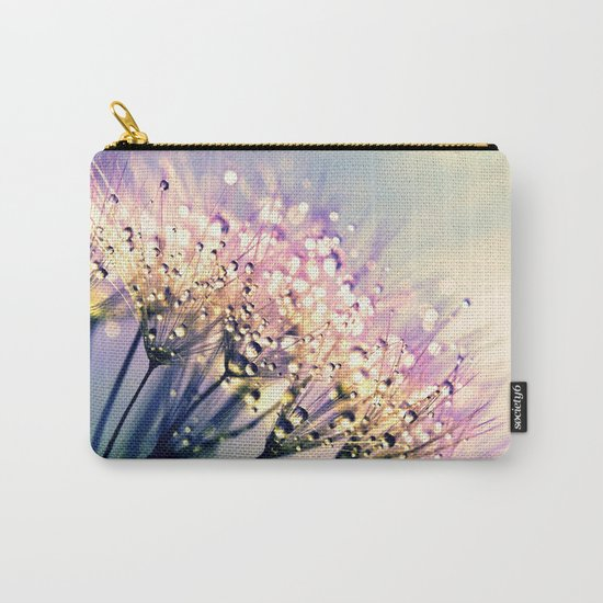 Pastel Dandelion Dew Carry-All Pouch