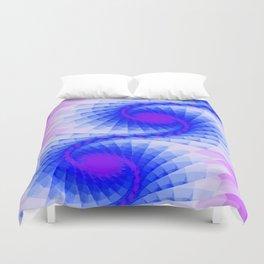 Fractal Purple Sky Wings Duvet Cover