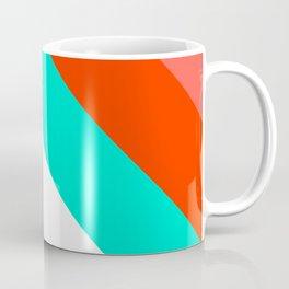 Living Coral - Minimal Geometric Pattern 1 Coffee Mug